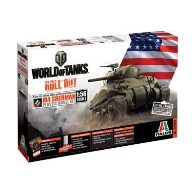 World of Tanks: CARRO DE COMBATE M4 SHERMAN 1/56 - Italeri 56503