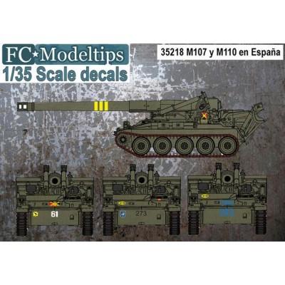 CALCAS M-107 Y M-110 1/35 - FC Modeltips 35218