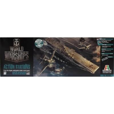 WORLD OF WARSHIPS: U.S.S. ESSEX 1/700 - Italeri 46503