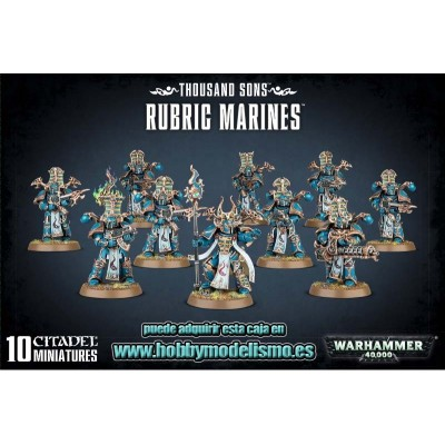 THOUSAND SONS RUBRIC MARINES - GAMES WORKSHOP 43-35
