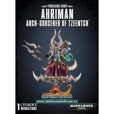 THOUSAND SONS AHRIMAN ARCH-SORCERER OF TZEENTCH - GAMES WORKSHOP 43-38