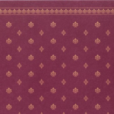 PAPEL PARED BURGUNDY AND IVORY CON GRECA