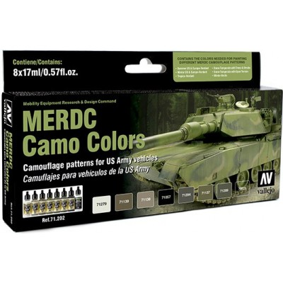 MODEL AIR SET: MERDC CAMO COLORS (8 BOTES 17ML)