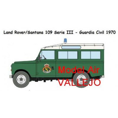 SET DE COLORES LAND ROVER GUARDIA CIVIL (VALLEJO)