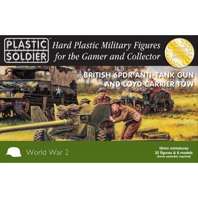 TRACTOR LOYD Y CAÑON 6 LIBRAS - Plastic Soldier WW2G15003