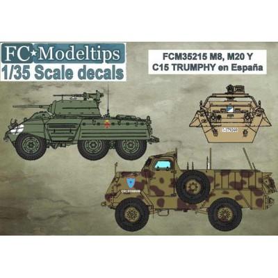 CALCAS VEHICULOS BLINDADOS M-8, M-20 y Trumphy ESPAÑOLES - FC Modeltips c35215