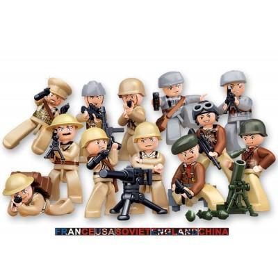 FIGURAS SURTIDAS SOLDADOS 2ª Guerra Mundial - Sluban B0580