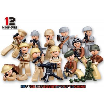 FIGURAS SOLDADOS 2ª Guerra Mundial - Sluban B0582