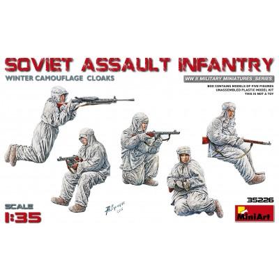 INFANTERIA SOVIETICA SOBRE CARRO (Invierno) -Escala 1/35- MiniArt 35226