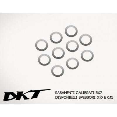 ARANDELA CALIBRADA (5 x 7 x 0.20 mm) 10 unidades - DKT OP039