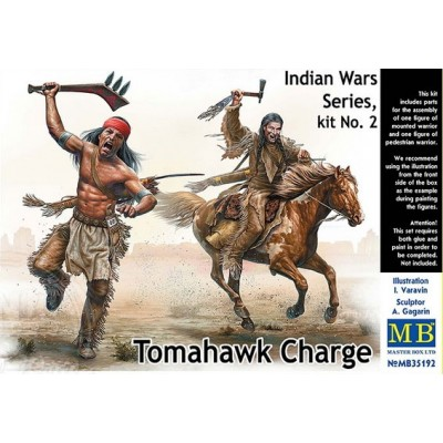 Indian Wars: CARGA TOMAHAWK - Master Box 35192
