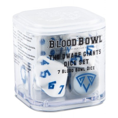 BLOOD BOWL: THE DWARF GIANTS SET 7 DADOS