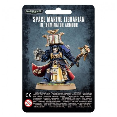 SPACE MARINE LIBRARIAN IN TERMINATOR ARMOUR - GAMES WORKSHOP 48-72